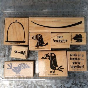 Stampin Up Just Beakause Rubber Stamp
